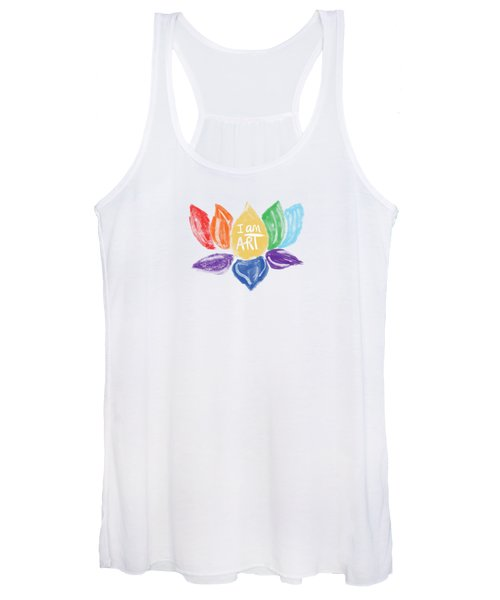Rainbow Lotus I Am Art- Art By Linda Woods Women's Tank Top