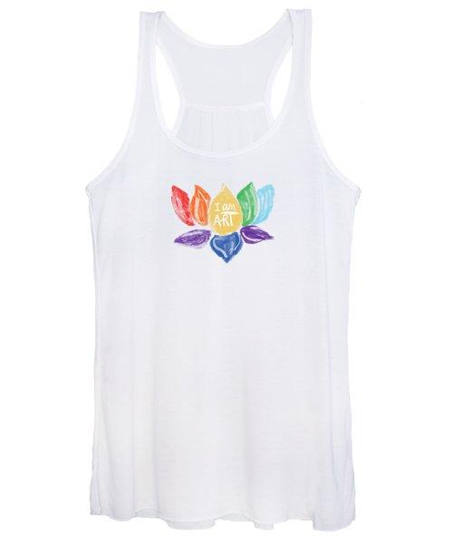 Rainbow Lotus I Am Art- Art By Linda Woods Women's Tank Top