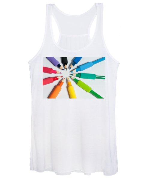 Rainbow Of Crayons Women's Tank Top