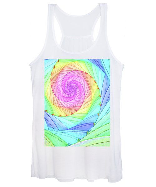 Rainbow Spiral Women's Tank Top