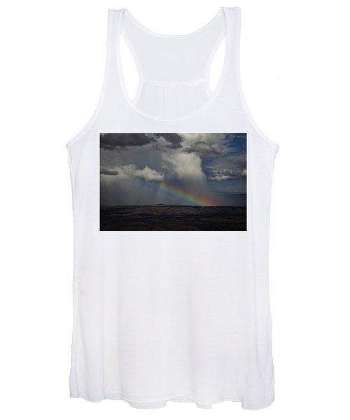 Rainbow Storm Over The Verde Valley Arizona Women's Tank Top