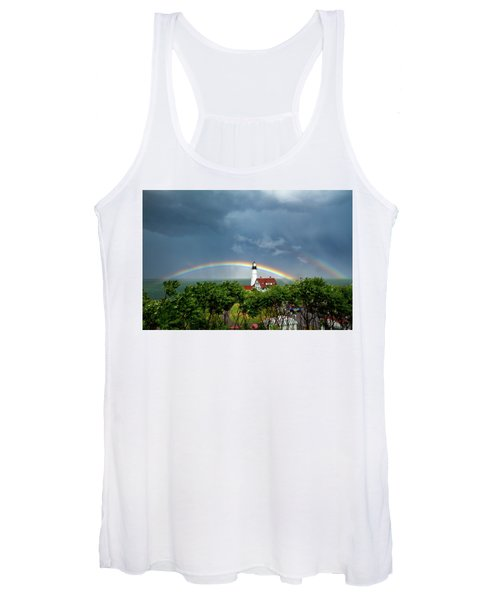 Rainbow X 2 At Portland Headlight Women's Tank Top