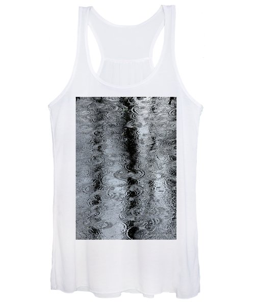 Raindrops On A Pond Women's Tank Top