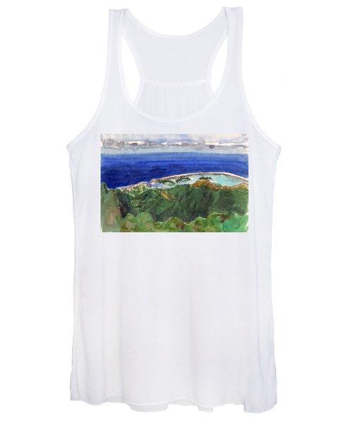 Rarotonga, View From Te Manga Women's Tank Top