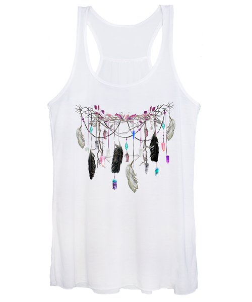 Raven Feathers And Roses Crystal Spirit Gazer Women's Tank Top