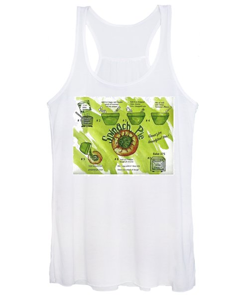 Recipe-spinach Pie Women's Tank Top