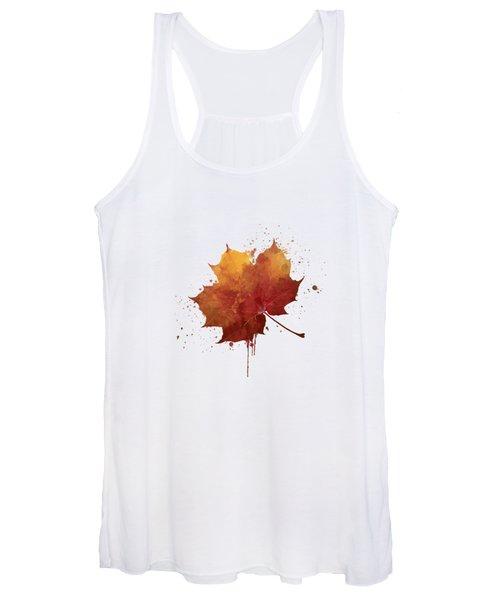 Red Autumn Leaf Women's Tank Top