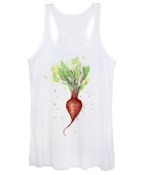 Red Beet Watercolor Women's Tank Top
