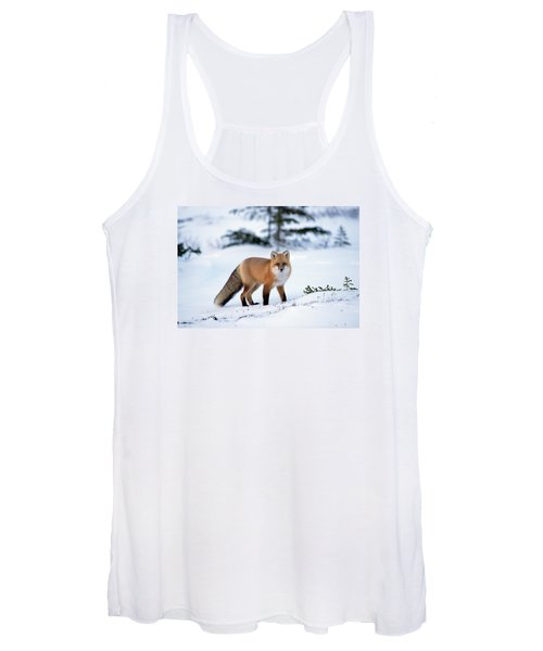 Red Fox Vulpes Vulpes Portrait Women's Tank Top