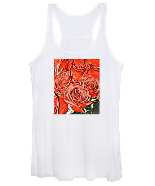 Red Roses Women's Tank Top
