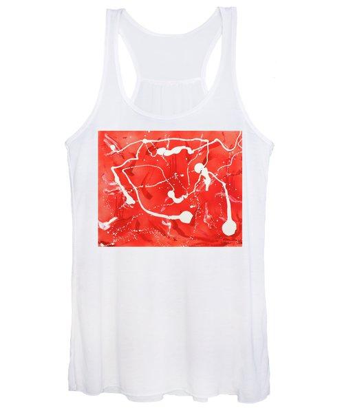 Red Spill Women's Tank Top