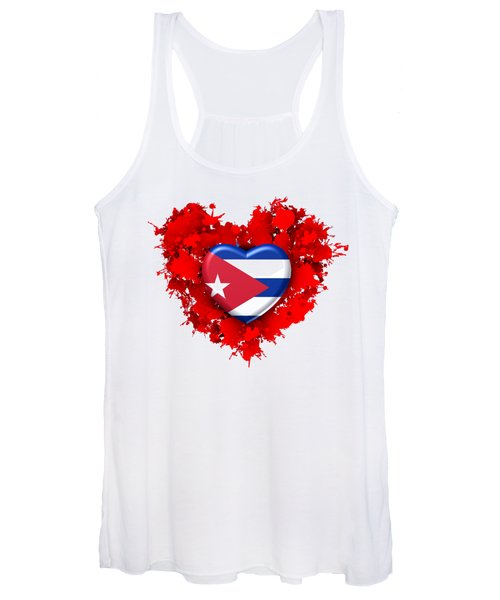 Red Stain Love To Cuba Women's Tank Top