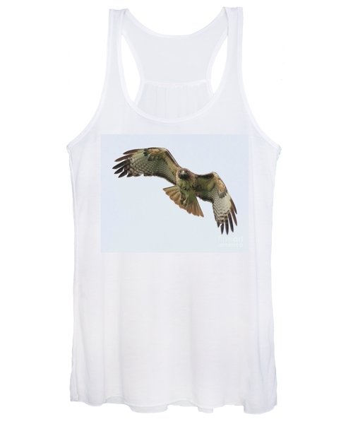 Red Tailed Hawk Finds Its Prey Women's Tank Top