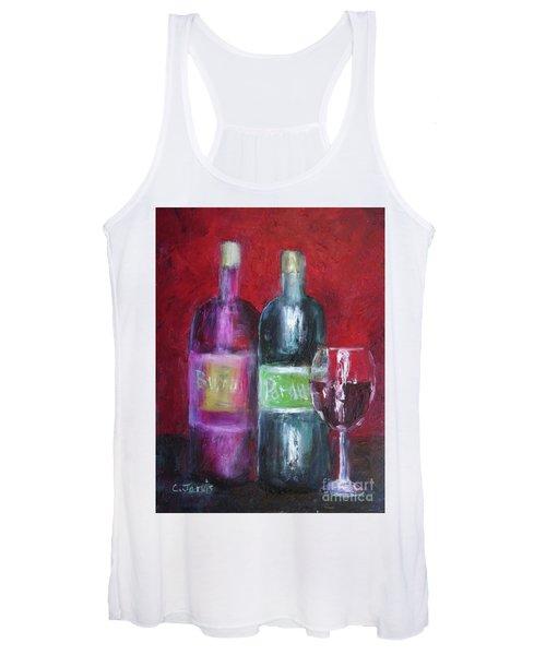 Red Wine Art Women's Tank Top