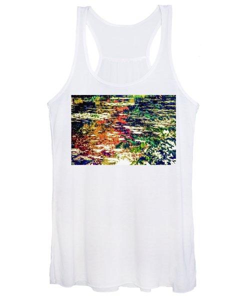Reflection On Oscar - Claude Monet's  Garden Pond  Women's Tank Top