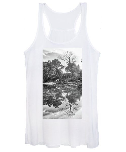 Reflections In Black And White Women's Tank Top