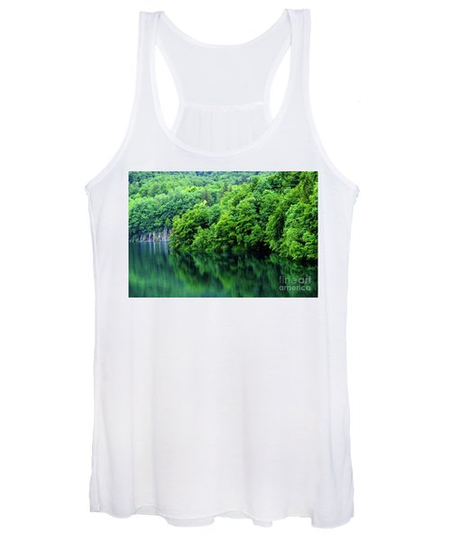 Reflections Of Plitvice, Plitvice Lakes National Park, Croatia Women's Tank Top