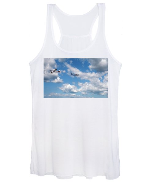 Resist Airplane Women's Tank Top