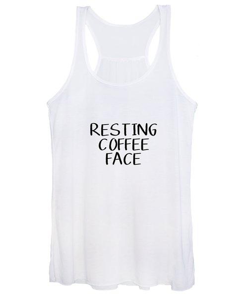 Resting Coffee Face-art By Linda Woods Women's Tank Top