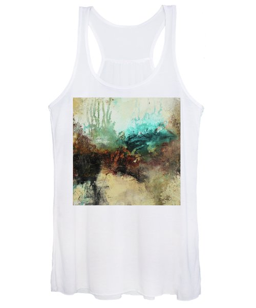 Rich Earth Tones Abstract Not For The Faint Of Heart Women's Tank Top