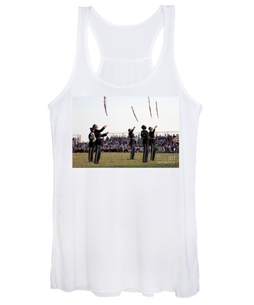 Rifle Toss By The Old Guard At The Twilight Tattoo  In Washington Dc Women's Tank Top