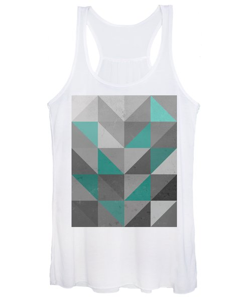 Right Angles Teal Women's Tank Top