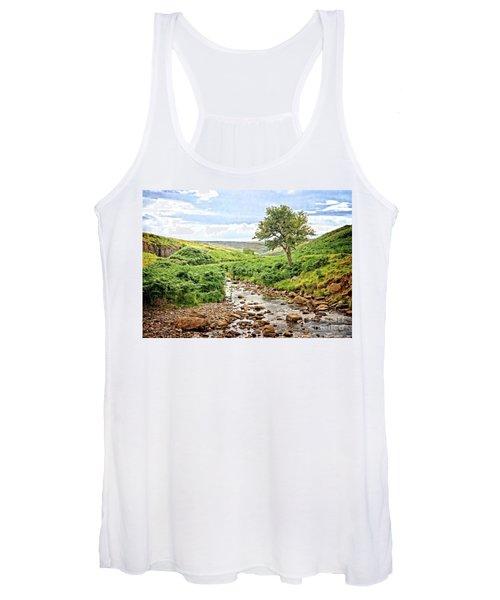 River And Stream In Weardale Women's Tank Top