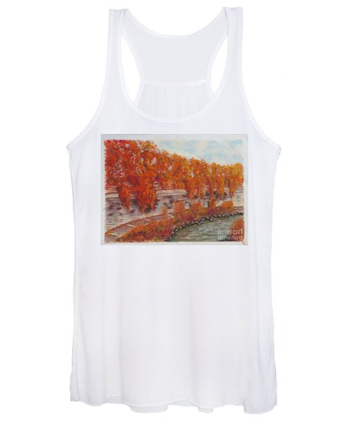 River Tiber In Fall Women's Tank Top
