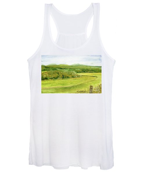 Road Through Vermont Field Women's Tank Top