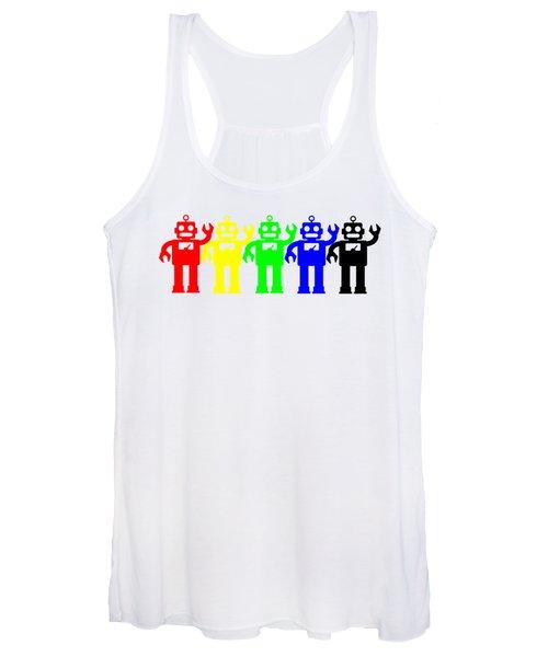 Robot Lives Matter Rainbow Tee Women's Tank Top