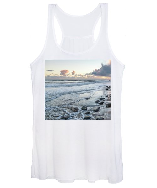 Rocks On The Beach During Sunset Women's Tank Top
