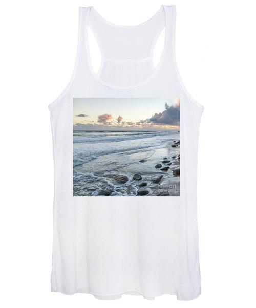 Rocks On The Beach During Sunset Women's Tank Top