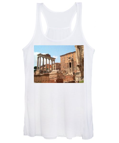 Rome The Eternal City And Temples Women's Tank Top