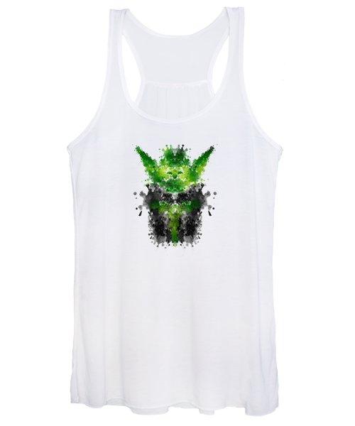 Rorschach Yoda Women's Tank Top