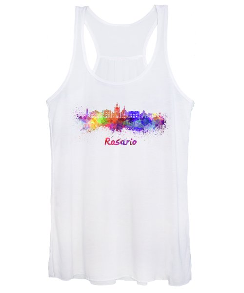 Rosario Skyline In Watercolor Women's Tank Top