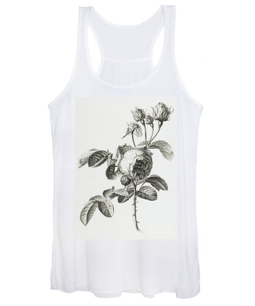 Rose A Cent Feuilles Women's Tank Top