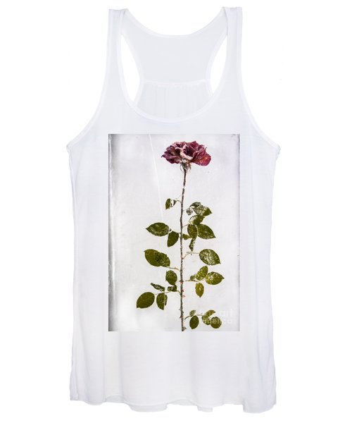 Rose Frozen Inside Ice Women's Tank Top