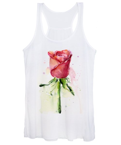 Rose Watercolor Women's Tank Top