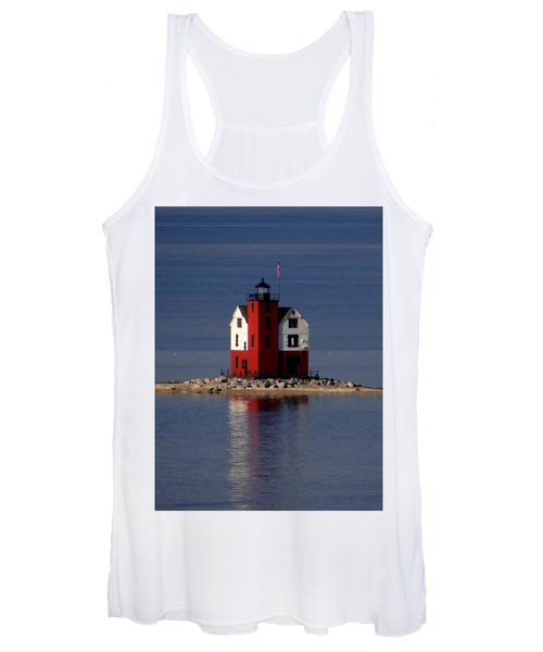 Round Island Lighthouse In The Morning Women's Tank Top