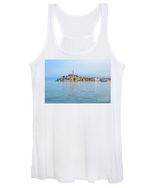 Rovinj In The Early Morning Fog, Istria, Croatia Women's Tank Top