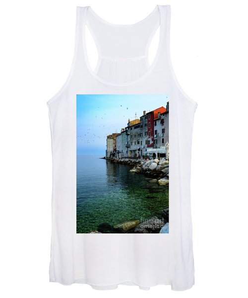 Rovinj Venetian Buildings And Adriatic Sea, Istria, Croatia Women's Tank Top