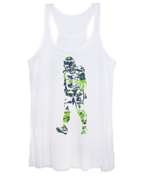 Russell Wilson Seattle Seahawks Pixel Art T Shirt 1 Women's Tank Top