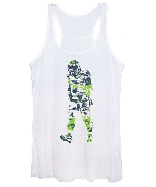 Russell Wilson Seattle Seahawks Pixel Art T Shirt 1 Women's Tank Top