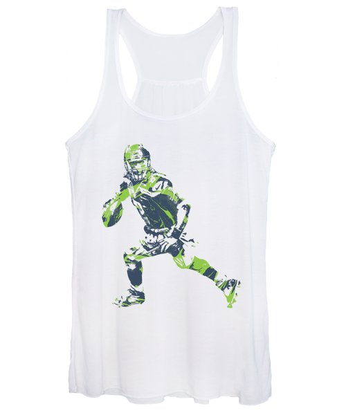 Russell Wilson Seattle Seahawks Pixel Art T Shirt 3 Women's Tank Top