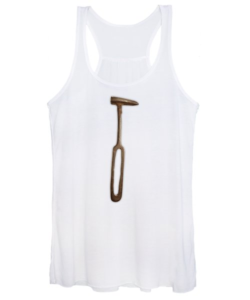 Rustic Hammer On Color Paper Women's Tank Top