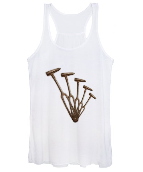 Rustic Hammer Pattern Women's Tank Top