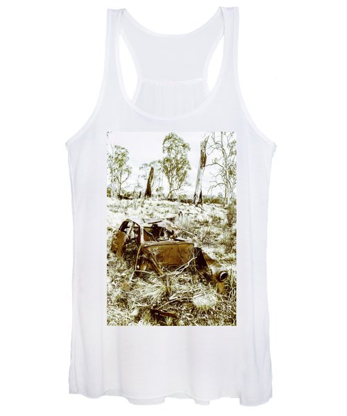 Rustic Rural Decay Women's Tank Top