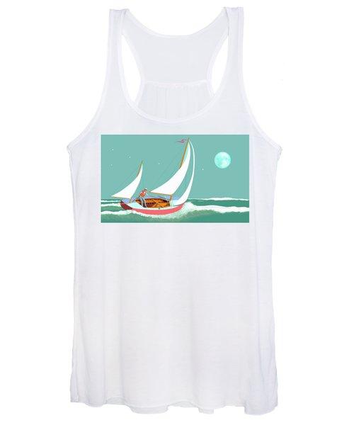 Moonlight Sail Women's Tank Top