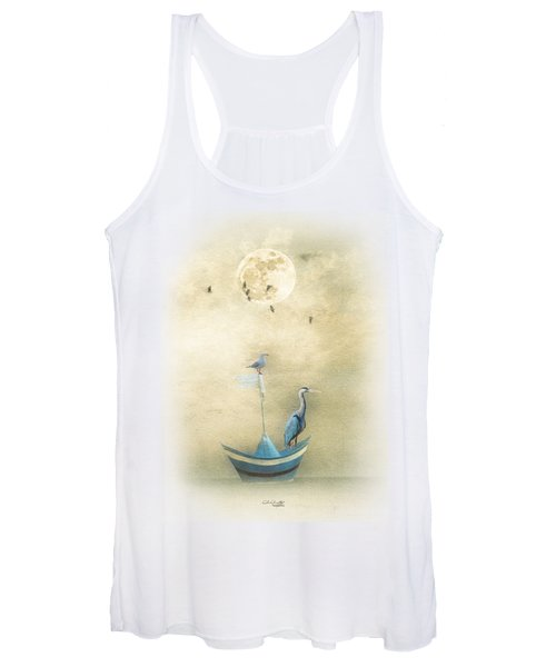 Sailing By The Moon Women's Tank Top