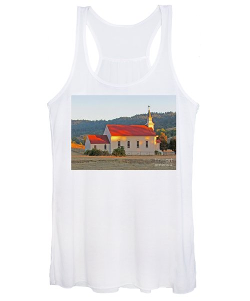 St. Mary's Church At Sunset Women's Tank Top